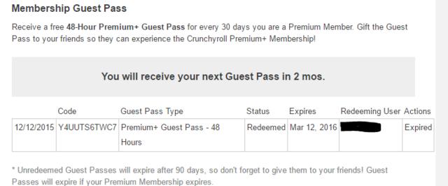 Crunchyroll - Forum - Not receiving guest pass in quite some
