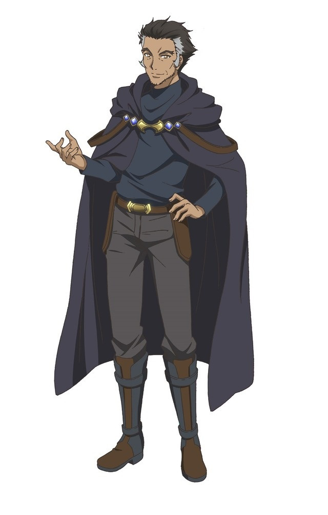 A character visual of Brantak, a wizard from the upcoming Hachinan-tte, Sore wa Nai Deshou! TV anime.