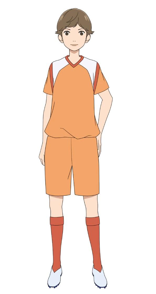 Un personaje visual de Mizuki Kaji, miembro del club de fútbol de la escuela secundaria del próximo anime de televisión Farewell, My Dear Cramer.