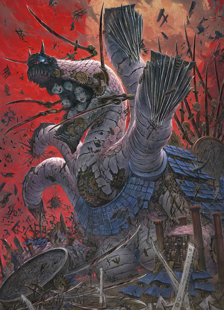 A terrifying yoma from Senran Kagura 2: Deep Crimson