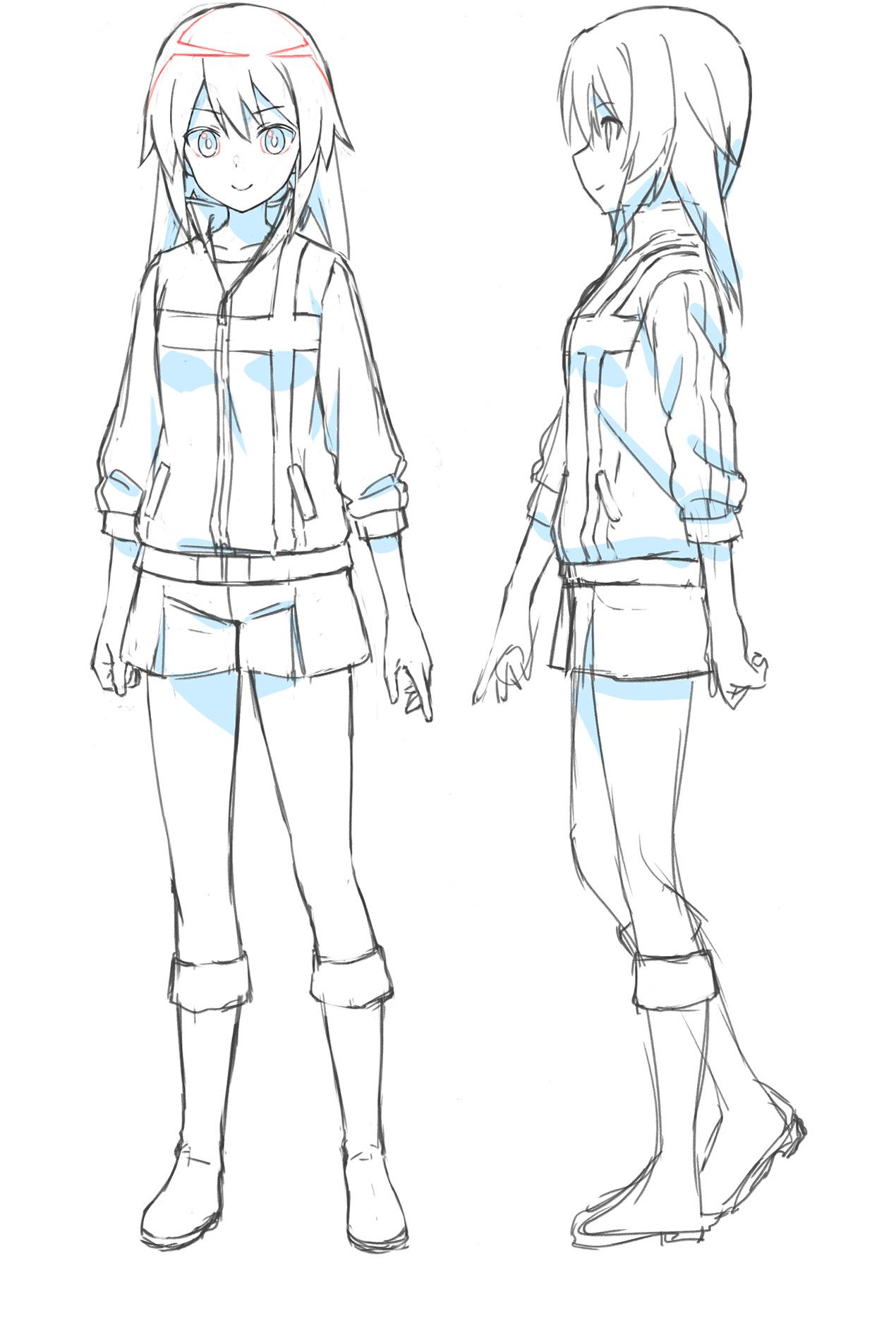 Un escenario de personajes de Yotsuyu Hirasaka, uno de los personajes principales del próximo Alice Gear Aegis OAV.