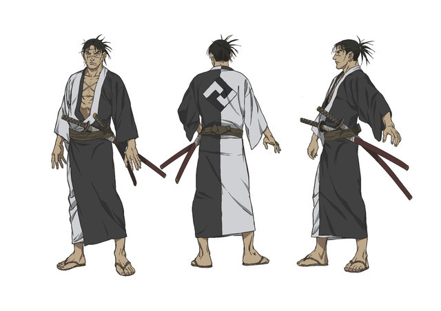 Manji, the ronin samurai who is cursed with immortality in the Blade of the Immortal TV anime.