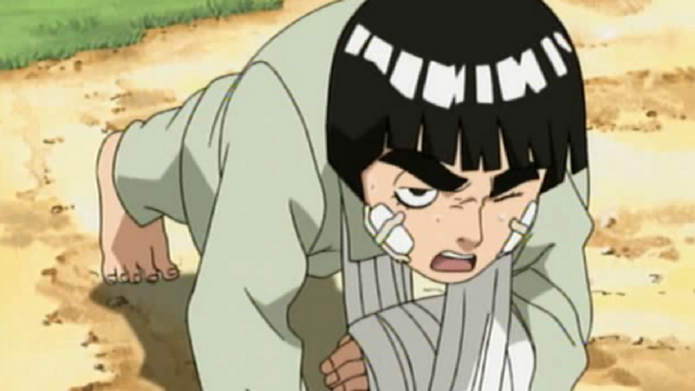 Rock Lee Doing Push-Ups