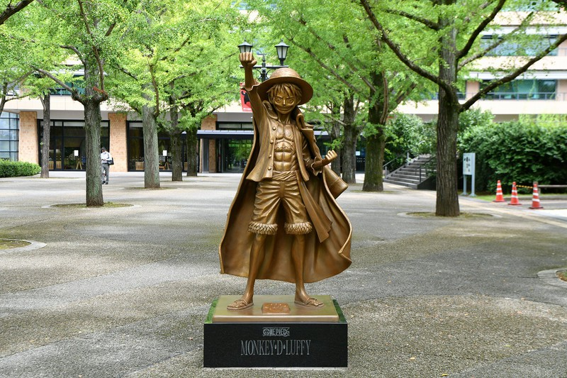 Luffy Statue in Kumamoto
