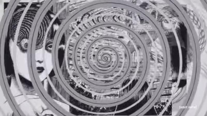 "from the teaser trailer for Junji Ito's ""Uzumaki"""