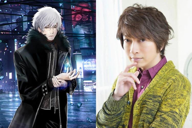 A character visual of Naoto Kirihara (and his voice actor, Daisuke Ono) from the upcoming NIGHT HEAD 2041 TV anime.