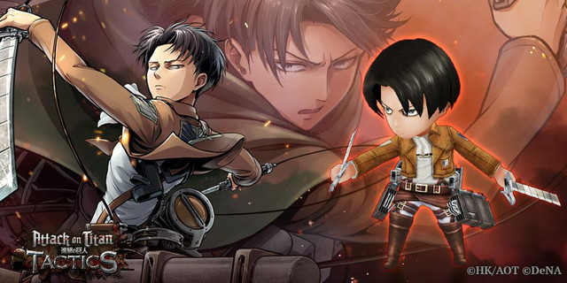 Levi is serious business even in chibi form in the Attack on Titan: TACTICS social game.