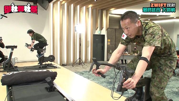 Un trabajador de Yamato Transport y un soldado de la JGSDF se enfrentan en una batalla ciclista virtual socialmente distanciada para el próximo programa de Youtube Onsha Heisha Matsuri.