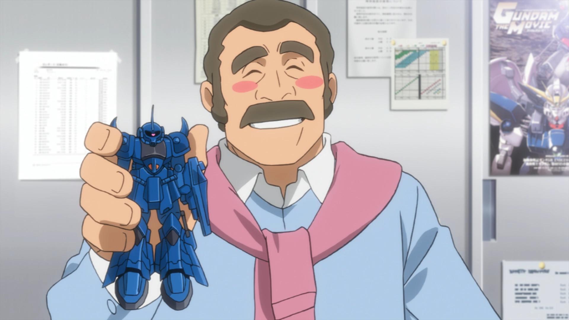 Ral sugiere usar un Gouf Gunpla en una escena de Gundam Build Fighters Try.