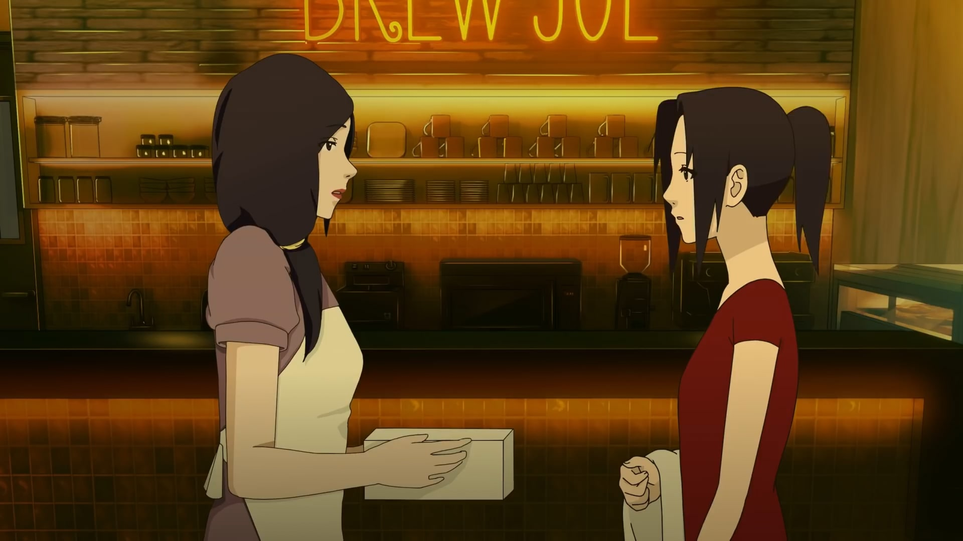 Two girls at a bar