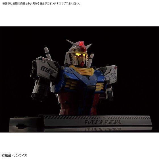 Gundam RX-78F00 Bust - 3/4 view, lit