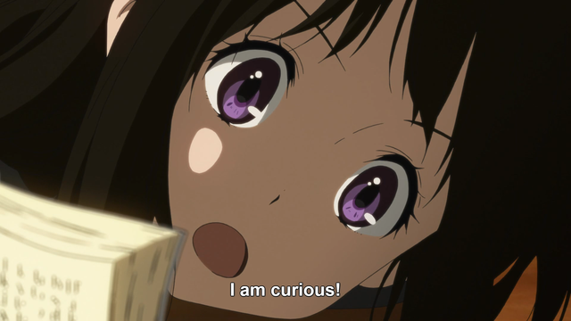 Chitanda is curious