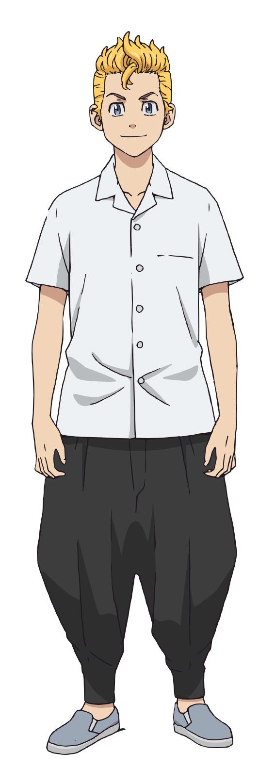 Un escenario de personajes del protagonista Takemichi Hanagaki como un delincuente de secundaria del próximo anime de televisión Tokyo Revengers.
