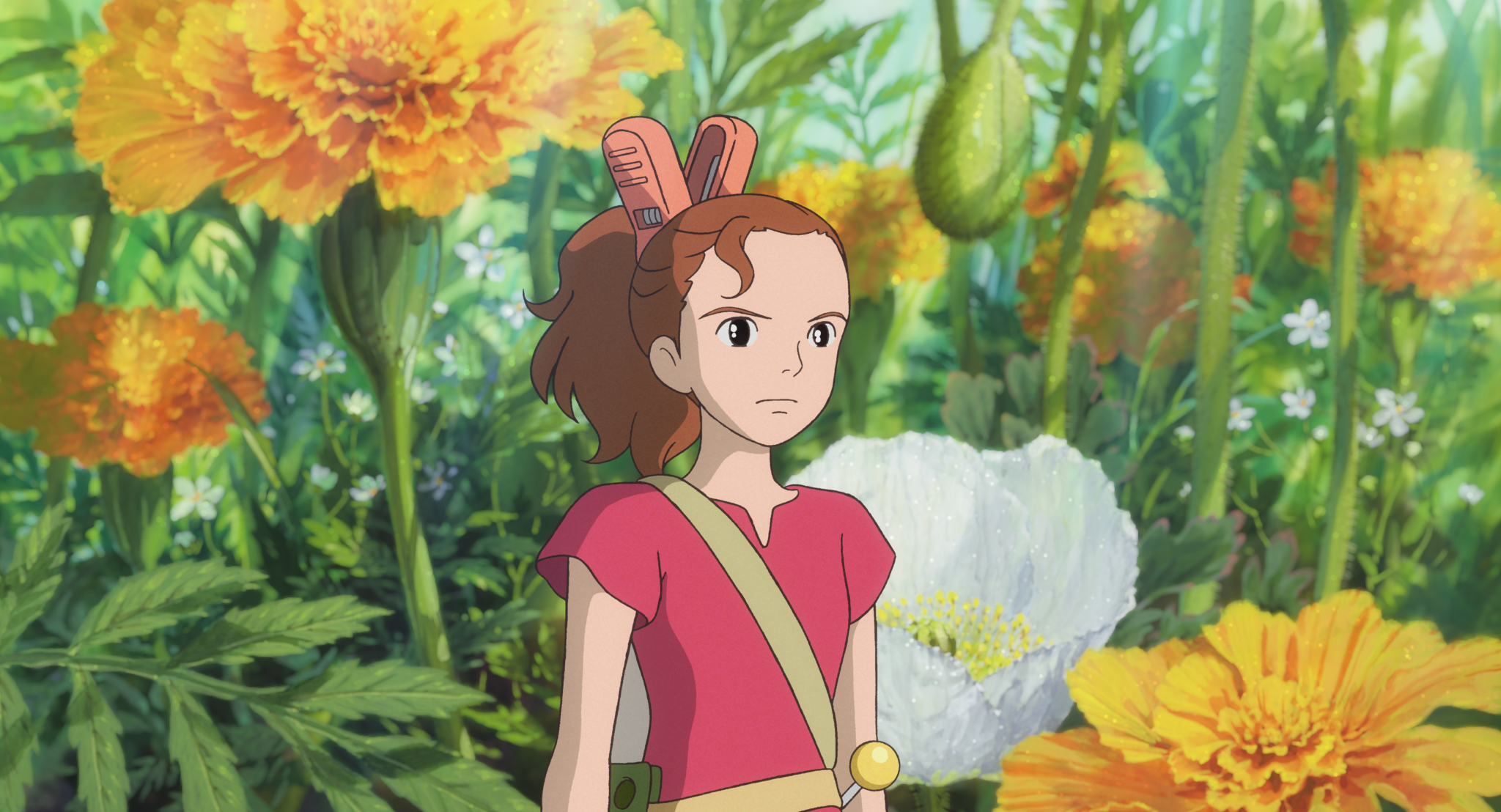 The pint-sized Arrietty shows her determination in a scene from the 2010 theatrical anime film The Secret World of Arrietty, distributed in the U.S. by GKIDS.
