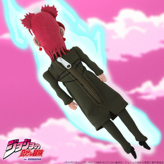 A rear-view promotional image of the JoJo's Bizarre Adventure Soul-Removed Noriaki Kakyoin Puppet Mascot Pouch from Premium Bandai.