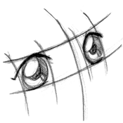 Anime Eyes Looking Up