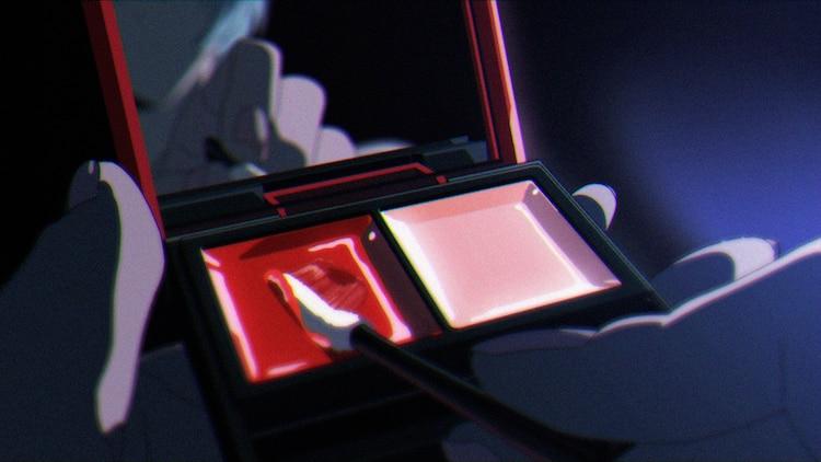 Paleta de lápiz labial Evangelion x KATE, como se ve en el anuncio