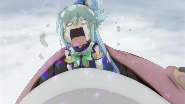 Cara Aqua exagerada, KONOSUBA
