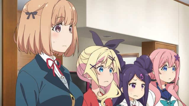 """The residents of """"Mouse Manor"""" receive some shocking news in a scene from the upcoming Dropout Idol Fruit Tart TV anime."""
