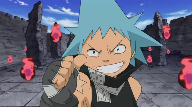 Black Star from Soul Eater flashes a hearty thumb's up.