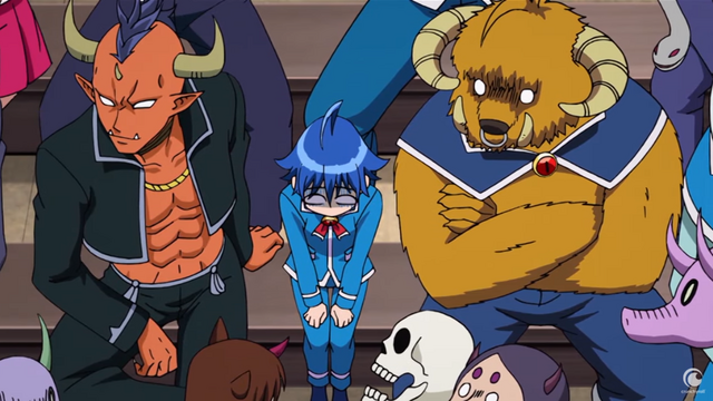 Iruma-kun, an ordinary human boy, finds himself surrounded by diabolical classmates in the Welcome to Demon School, Iruma-kun TV anime.
