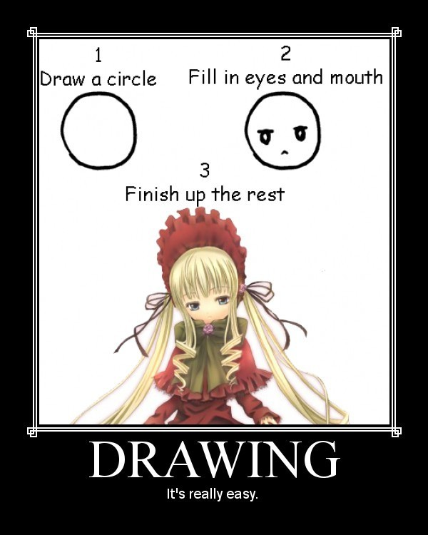 Anime With Rude Quote: Learning Anime Drawing / Art
