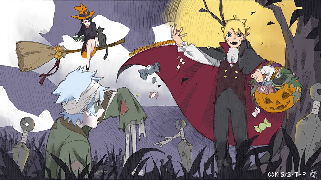 Boruto: Naruto Next Generations Official Halloween Art
