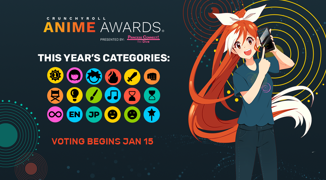 Crunchyroll Anime Awards 2021 - Categories
