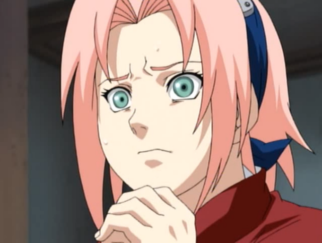 Sakura gazes on in horror as Naruto and Sasuke prepare to unleash their ultimate Jutsu techniques on one another.