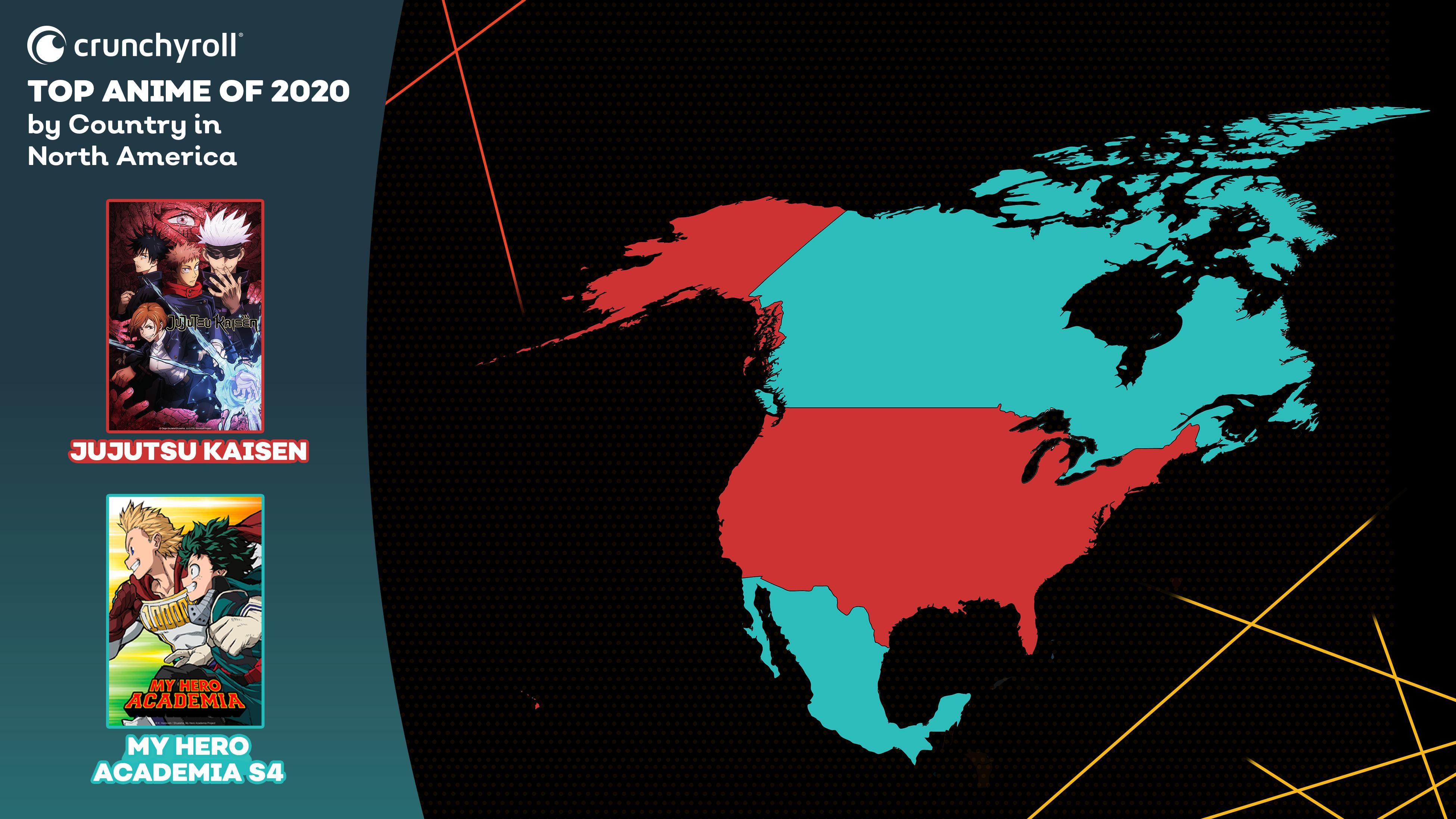 Mejor anime de 2020 por país: América del Norte