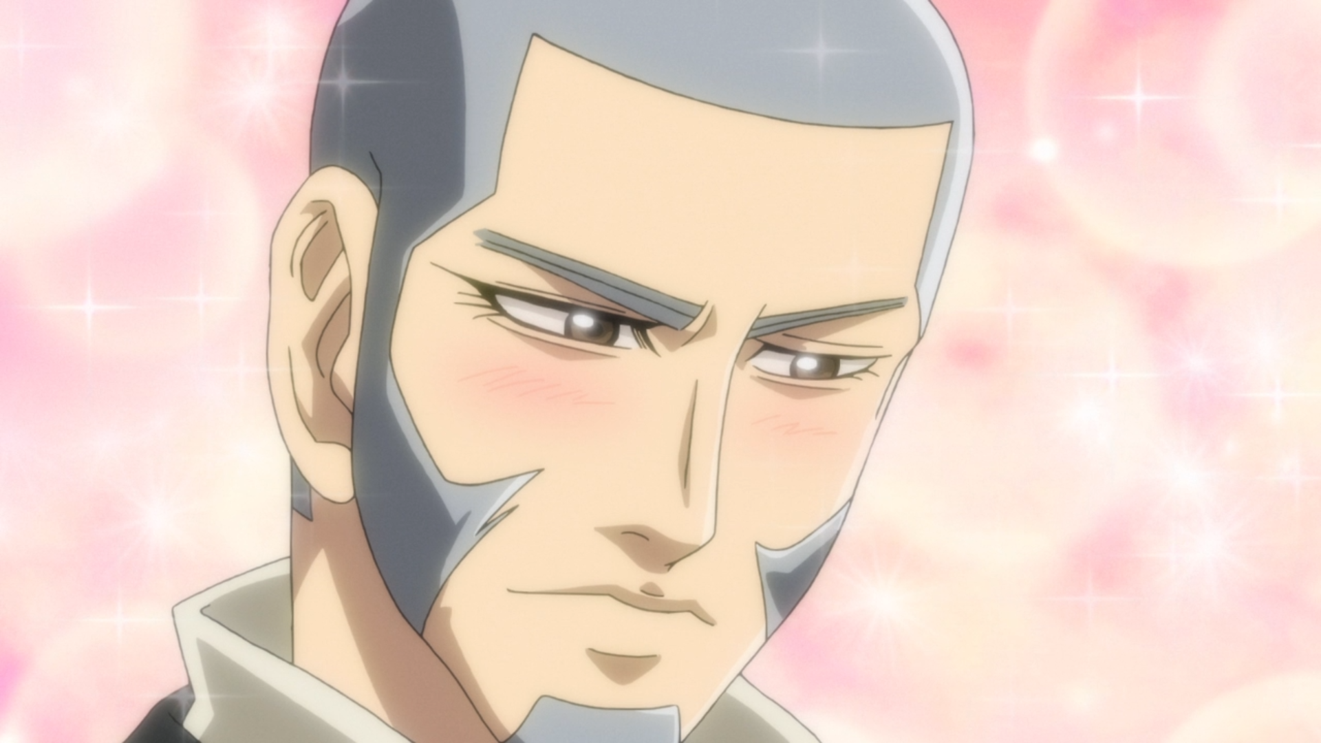 Shiraishi appears unfathomably sexy to Sugimoto's otter-altered perceptions in a scene from Episode 20 of the Golden Kamuy TV anime.