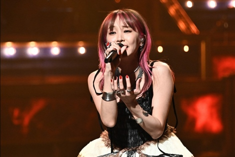 LiSA performing at the award ceremony