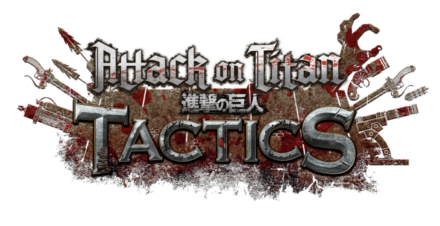 The official logo for the Attack on Titan: TACTICS social game.