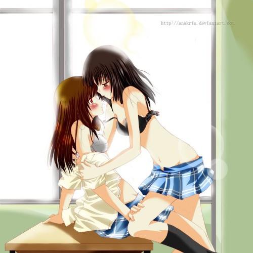 Phrase Horny anime girls kissing are mistaken