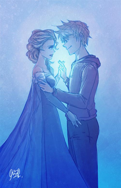 Crunchyroll Jack Frost And Queen Elsa Group Info