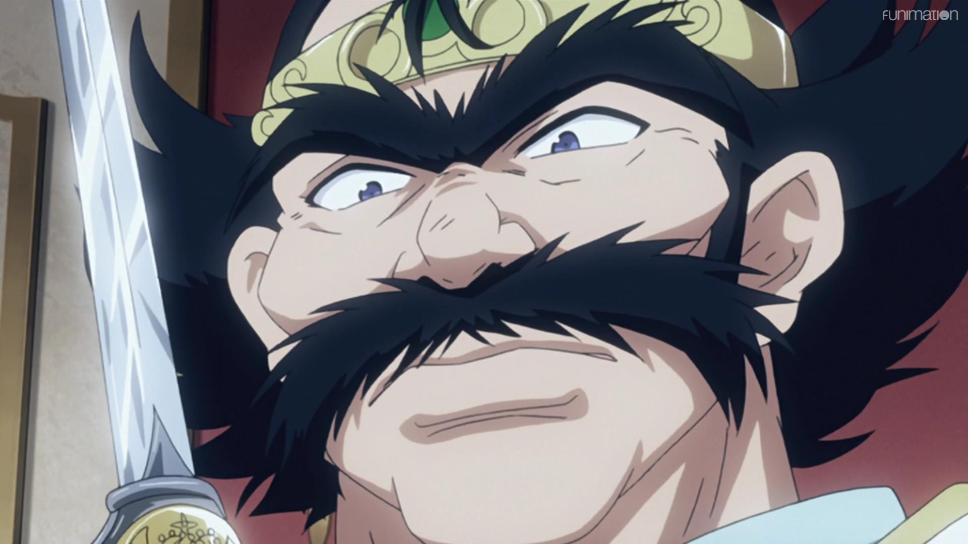 El príncipe Phil se prepara para doblar a Zelgadis como representante de la Corona de Seyruun en una escena del anime de televisión Slayers.