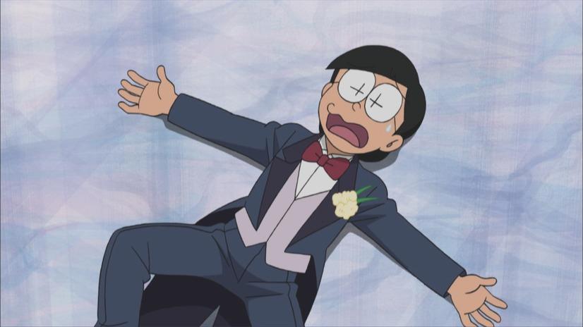 Una Nobita adulta en pánico