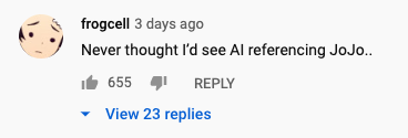 Crunchyroll-Hime and Kizuna AI fan comments