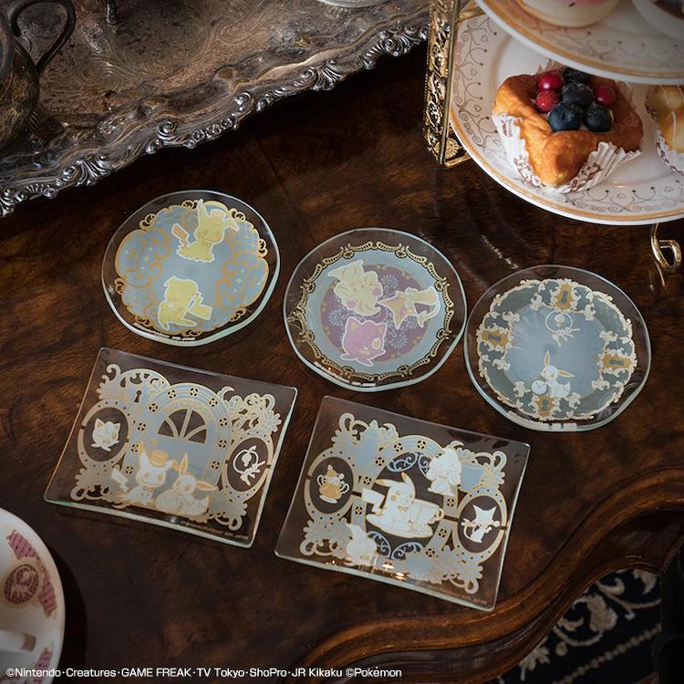 Antique & Tea glass plates