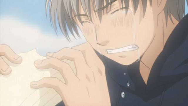 Takemoto memakan sandwich madu dan semanggi.
