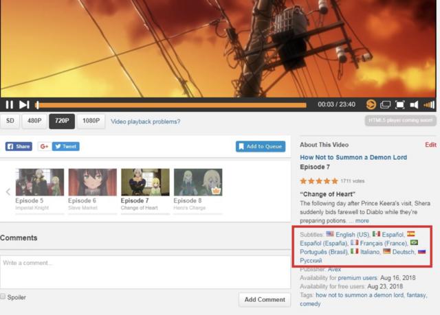 Crunchyroll - Forum - Updates On the New Crunchyroll Video Player