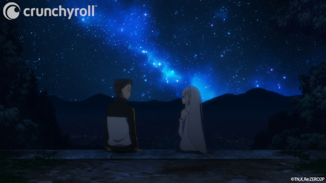 Subaru and Emilia under the stars