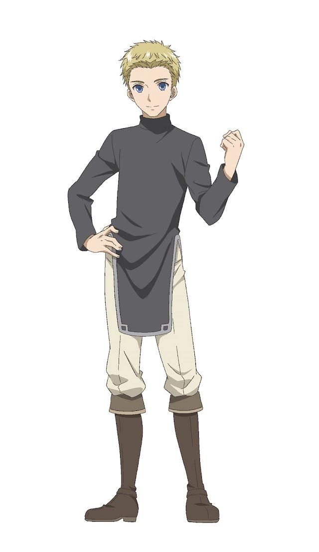 A character visual of Erwin, a young knight from the upcoming Hachinan-tte, Sore wa Nai Deshou! TV anime.