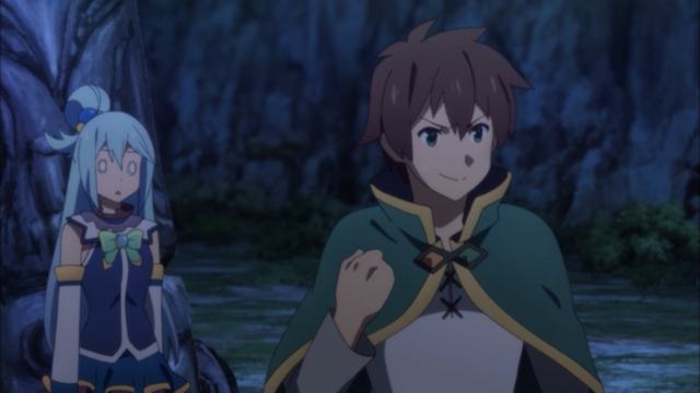Kazuma's strategy throws Aqua for a loop