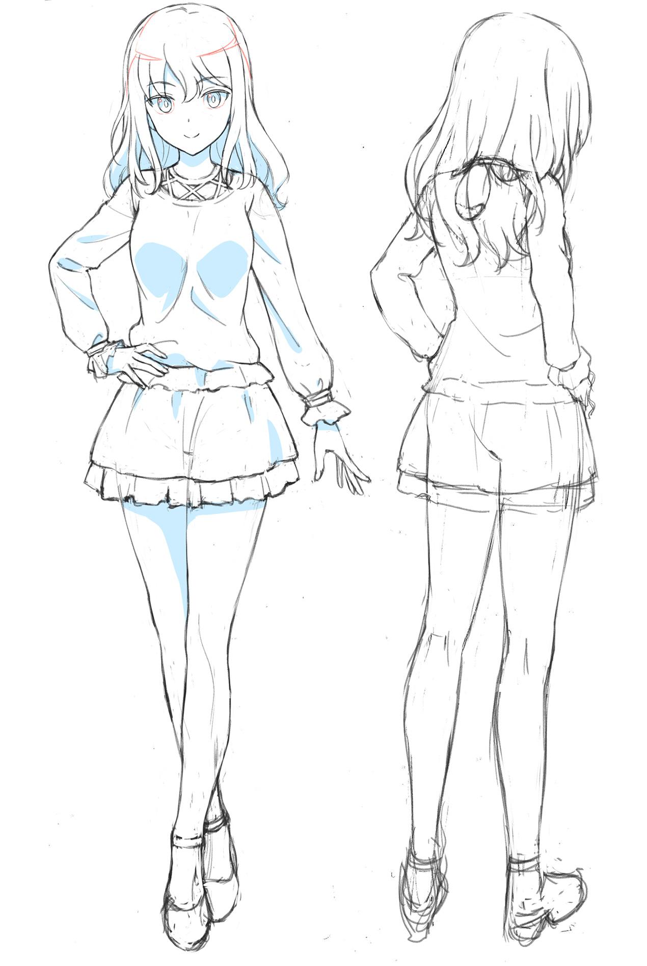 Un escenario de personajes de Yumi Yotsuya, uno de los personajes principales del próximo Alice Gear Aegis OAV.