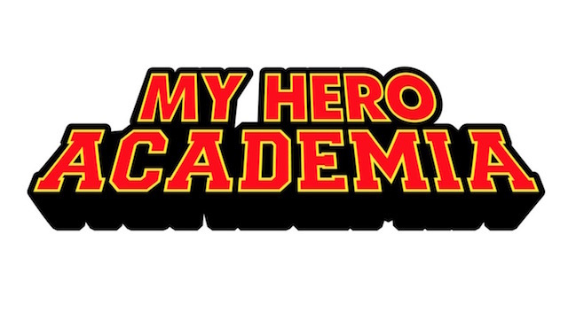 A key visual featuring the official English language logo for the My Hero Academia TV anime.