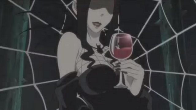 Arachne with Glass of Blood in Soul Eater