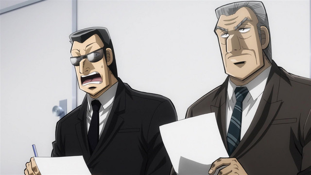 Kawasaki is shocked when Tonegawa rejects what appears to be a perfect candidate applying for a job at the Teiai Group in Mr. TONEGAWA Middle Management Blues.