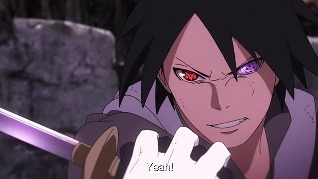 Sasuke, in Boruto