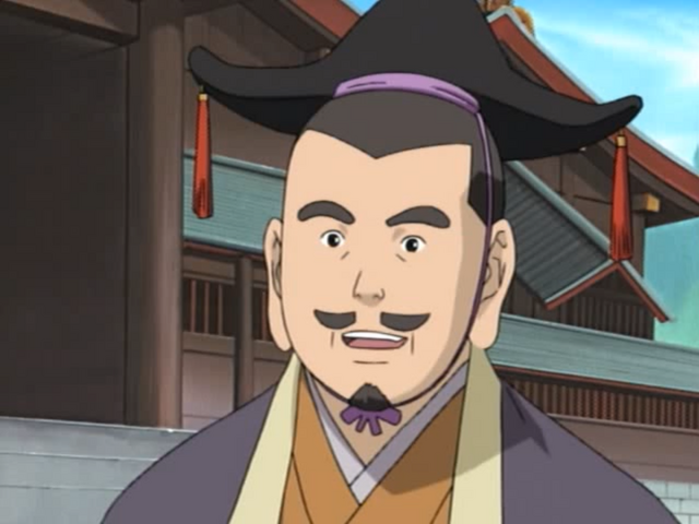The daimyo of the Land of Tea smiles as he reveals his cunning plan to entrap the Wagarashi Family.
